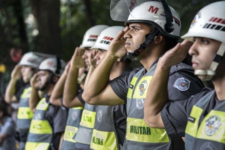 polícia, sp, militar, pm, manifestações, continência