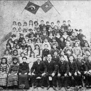 Colégio Libanês de São Paulo em 1900; árabes investiram na educação dos filhos