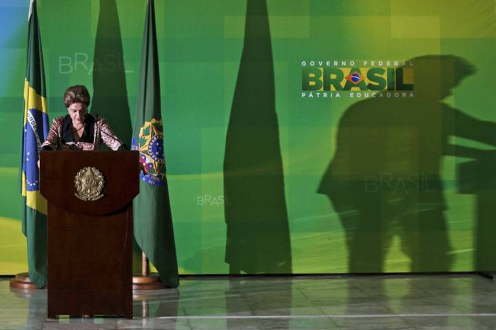 Dilma em entrevista para a imprensa internacional. UESLEI MARCELINO REUTERS