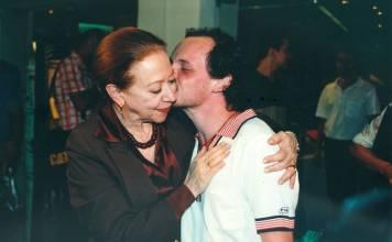 Com Fernanda Montenegro em 1999 - Central do Brasil