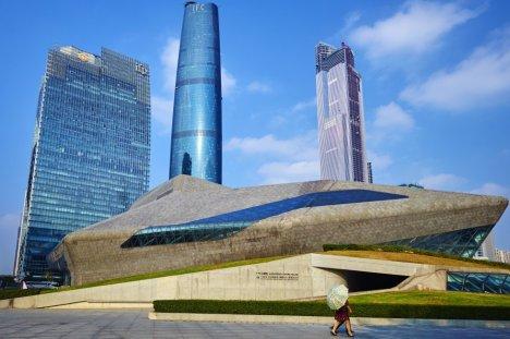 Casa de Ópera de Guangzhou (China).