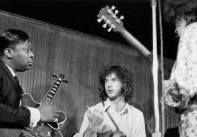 BB, Eric Clapton and Elvin Bishop perform together in New York City on January 1st, 1967