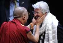 Dalai Lama com o ator Richard Gere em Washington, dia 7 de outubro de 2009