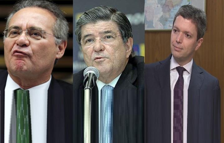 Renan Calheiros, Sérgio Machado, Fabiano Silveira