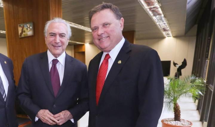 Ministros do Governo Temer Michel Temer e o senador Blairo Maggi, o -rei da soja-. R. Cunha-VPR