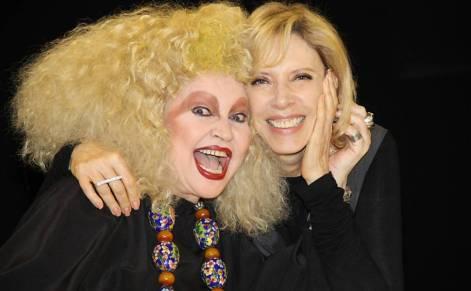 Elke Maravilha e Marília Gabriela no De Frente Com Gabi, do SBT