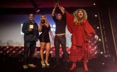 Elke Maravilha, na festa da cerimônia do PIP, o premio da indústria pornô