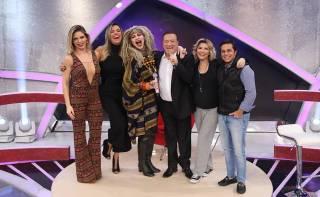 Elke Maravilha no programa Raul Gil, do SBT
