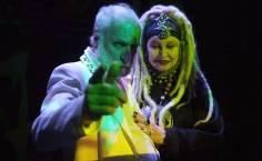 O ator Paulo César Pereio e Elke Maravilha durante ensaio da peça Krísis da Cia Nova de Teatro, em São Paulo