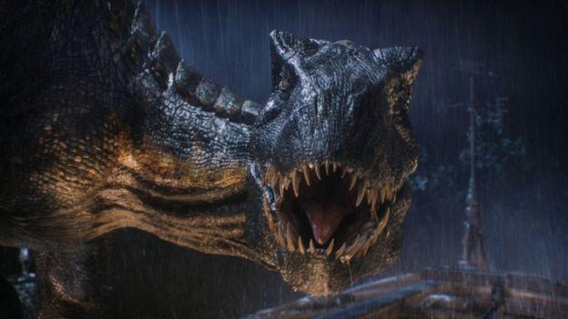 Animal inspirado no T. rex do filme Jurassic World