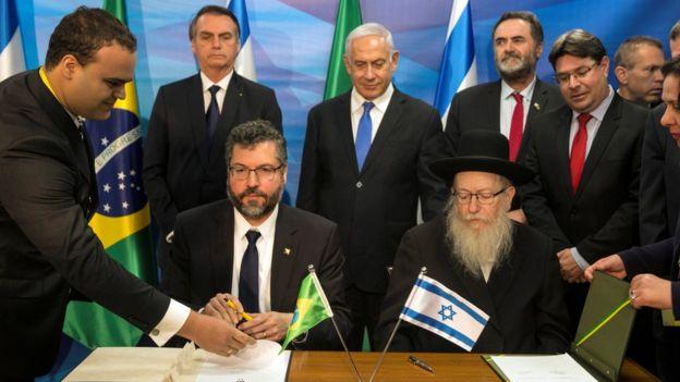 Assinatura de acordos com Israel