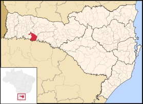 25 de Agosto — Mapa de localização — Chapecó (SC) — 100 Anos em 2017.