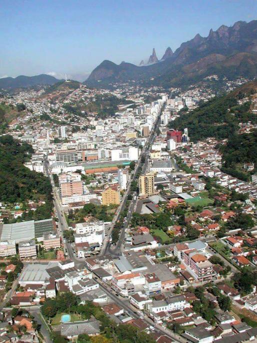 6 de Julho – Foto aérea da região central — Teresópolis (RJ) — 126 Anos em 2017.