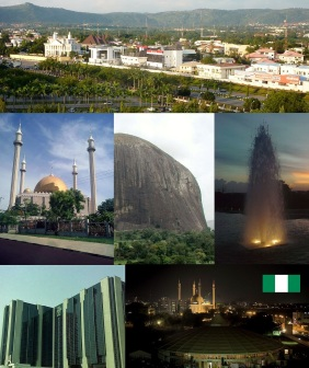 Fotomontagem da Nigéria.