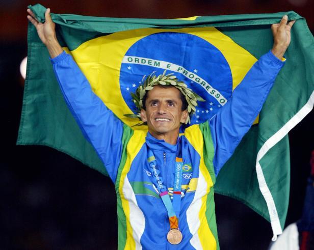 Men's marathon bronze medal winner Vande