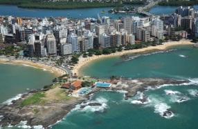 19 de Setembro – Foto aérea da orla da cidade — Guarapari (ES) — 126 Anos em 2017.