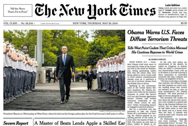 18 de Setembro – 1851 – Fundação do The New York Times.