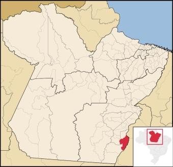 30 de Maio - Localização de Conceição do Araguaia no Pará.