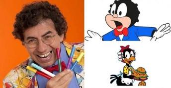 30 de Maio - 1947 – Daniel Azulay, artista plástico, educador, desenhista, compositor e autor de livros - com seus personagens.