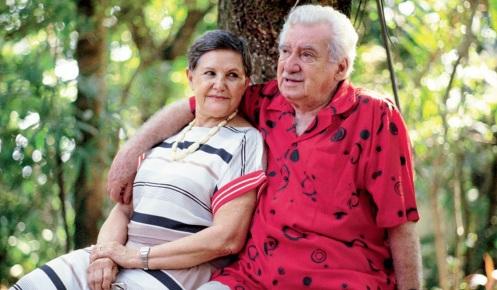 2 de Julho - Zélia Gattai e Jorge Amado.