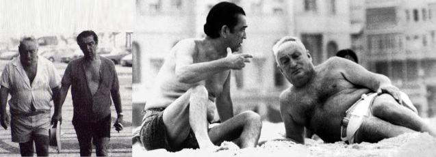 8 de Outubro - Adolpho Bloch - 1908 – 109 Anos em 2017 - Acontecimentos do Dia - Foto 8 - Adolpho Bloch e JK no Calçadão de Copacabana.