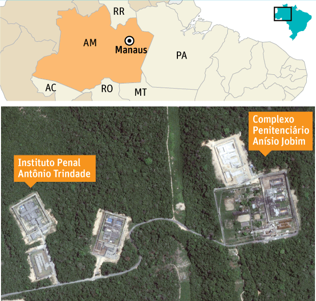 Presídios de Manaus - infográfico - Folha