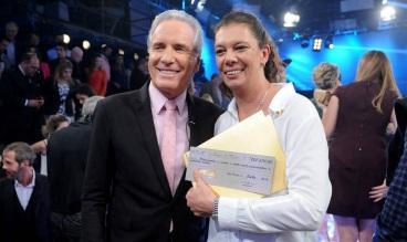 14 de Agosto – Ana Moser - 1968 – 49 Anos em 2017 - Acontecimentos do Dia - Foto 15 - Ana Moser com Roberto Justos, após vencer o 'Aprendiz Celebridades'.