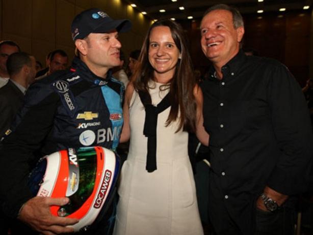 23 de Maio - Rubens Barrichello com seus pais.
