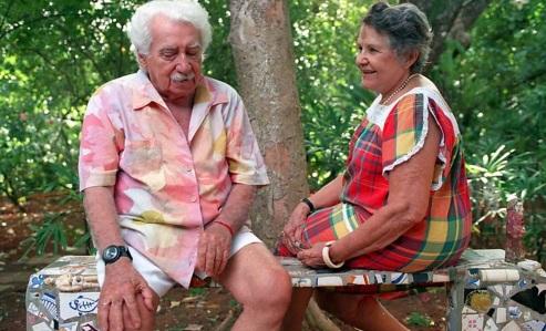 2 de Julho - Jorge Amado e Zélia Gattai - Foto – Cláudia Guimarães - 1º dez.1994 - Folhapress.