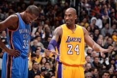 29 de Setembro – Kevin Durant - 1988 – 29 Anos em 2017 - Acontecimentos do Dia - Foto 12 - Kevin Durant e Kobe Bryant.