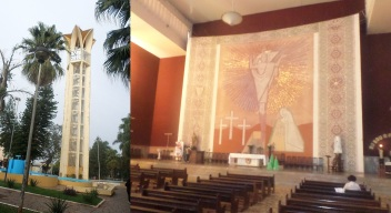 16 de Junho - Torre do relógio e o interior da Igreja Matriz — Bariri (SP) — 127 Anos.