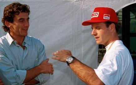 30 de Abril - Ayrton Senna e Rubens Barrichello em Ímola.