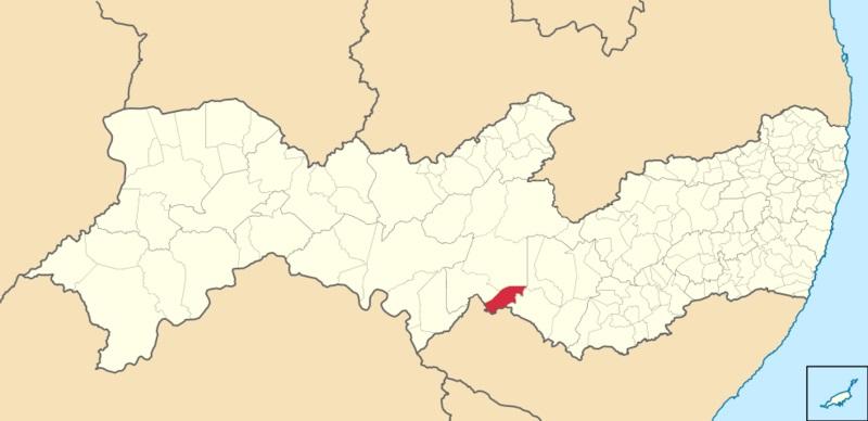12 de Julho – Mapa de localização — Manari (PE) — 22 Anos em 2017.