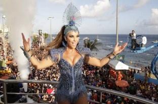 27 de Maio - Ivete Sangalo, cantora brasileira - no trio elétrico durante o Carnaval de Salvador.