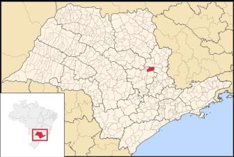 29 de Agosto — Mapa de localização — Leme (SP) — 122 Anos em 2017.