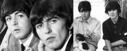 18 de Junho - Paul McCartney - cantor e compositor inglês - com George Harrison.