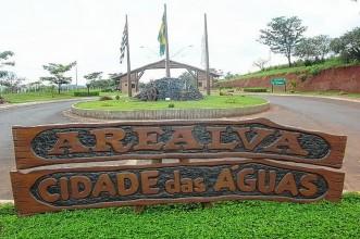 1 de Abril - Arealva (SP) - Letreiro - Entrada - Cidade.