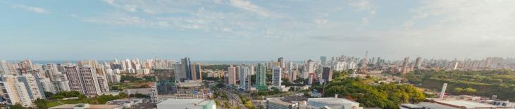29 de Março - Salvador (BA). Vista panorâmica da atual região do Caminho das Árvores, na bacia do Rio Camarajipe, para onde a cidade começou a se expandir no início na década de 1