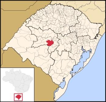 17 de Maio - Localização de Santa Maria no Rio Grande do Sul.
