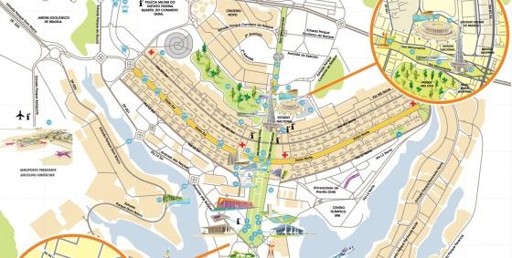 21 de Abril - Mapa de Brasília — DF.