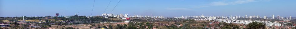 8 de Abril - Vista panorâmica de Cuiabá - MT, em 2007.