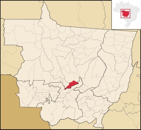 1 de Maio - Nobres (MT) - Mapa.