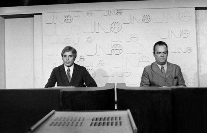 23 de Agosto — 1969 - Estreia do Jornal Nacional, com Cid Moreira e Hilton Gomes - JN.