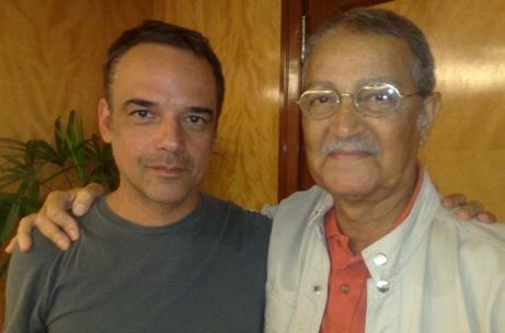 10 de Maio - Nelson Xavier - Falecimento - 2017 - Foto - Nelson Xavier e Ângelo Antonio. Os dois interpretes de Chico Xavier no cinema.