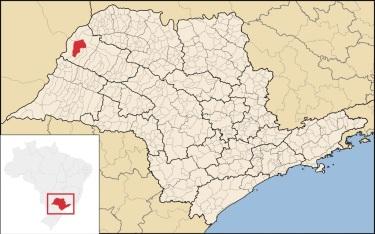 11 de Julho – Mapa de localização — Andradina (SP) — 80 Anos em 2017.