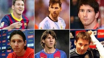 24 de Junho - Messi em fotomontagem de várias épocas de sua carreira.