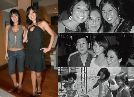 21 de Setembro – Daniele Suzuki - 1977 – 40 Anos em 2017 - Acontecimentos do Dia - Foto 18 - Daniele em família, com a irmã, Alessandra, a mãe, Ivone, e o pai, Hiroshi.