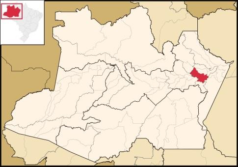 25 de Abril - Itacoatiara (AM) - Mapa.