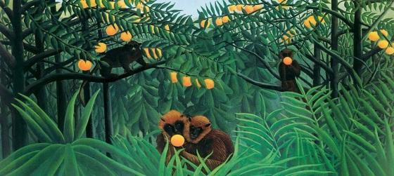 21 de Maio - Obra dos macacos - 1844 - Henri Rousseau, pintor francês (m. 1910).
