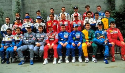1 de Maio - Todos os pilotos de F1 em foto do grande prêmio em 1994.